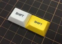 DSA PBT キーキャップ (1個/1.25U/SHIFT/イエロー/ホワイト)