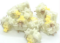 Gateron サイレントキースイッチ Yellow(トップクリア/5ピン/50g/リニア/10個)