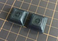 DSA ブランク キーキャップ  (2Piece/ Black Transparent)