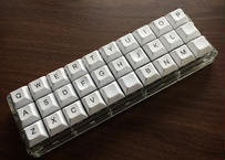 Gherkin キーボードキット (Transparent acrylic plate)