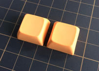 XDA  PBT ブランク キーキャップ (2Pieces/Orange)