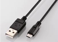 USB2.0ケーブル(0.6m/USB(A)オス - USB(Micro-B)オス)