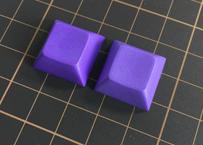 DSA PBT ブランク キーキャップ (2Piece/Dark Purple)