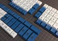 DSA PBT DyeSub ERGO 95 キーキャップ セット(ホワイト/ネイビー)