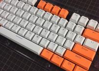 Translucent Double Shot 104 Keycap Set (White/Orange)
