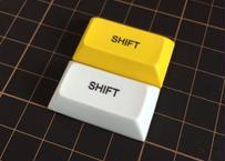 DSA PBT キーキャップ (1Piece/1.75U/SHIFT/イエロー/ホワイト)