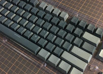 Translucent Double Shot 104 Keycap Set (Black/Gray)