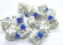Gateron キースイッチ Blue Backlight LED (トップクリア/3ピン/60g/クリッキー/10個)在庫限り