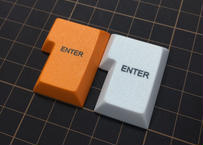 DSA PBT キーキャップ (1Piece/ISO-ENTER/オレンジ/ホワイト)