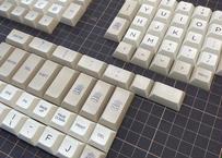 DSA PBT DyeSub ERGO 95 キーキャップ セット(ベージュ/グレー)