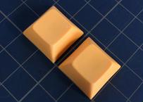 DSA PBT ブランク キーキャップ  (オレンジ/2個)