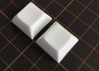 DSA PBT ブランク キーキャップ (ホワイト/2個)