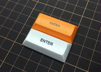 DSA PBT キーキャップ (1Piece/2.25U/ENTER/ホワイト/オレンジ)