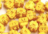 Gateron CAP V2 キースイッチ Gold Yellow (イエロー/5ピン/50g/リニア/5個)