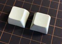 SA PBT ブランク キーキャップ (2Piece/ROW3/オフホワイト)