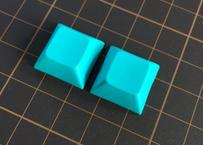 DSA PBT ブランク キーキャップ  (ターコイズ/2個)
