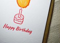 『Happy Birthday』カード |活版印刷