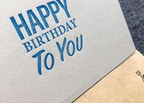 『HAPPY BIRTHDAY TO YOU』カード 2set |活版印刷
