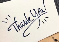 『Thank you』カード 2set | 活版印刷