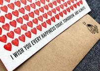 『結婚おめでとう』カード|活版印刷