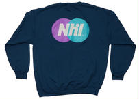 【order~4/14】Nhl Sporting logo crewneck sweat / Smoky blue