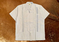 "[IMP-S-LBLU03-38] DEADSTOCK IMPORT GUAYABERA  S/S  ""LIGHTBLUE-3""サイズ38"