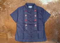 "[IMP-L-S-CHB01-40] DEADSTOCK IMPORT LADY'S GUAYABERA  S/S  ""CHAMBRAY-01""サイズ40"