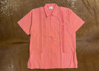 "[IMP-S-PINK02-36] DEADSTOCK IMPORT GUAYABERA S/S ""PINK-2""サイズ36"