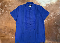 "[IMP-S-BLUE01-38] DEADSTOCK IMPORT GUAYABERA  S/S  ""BLUE-1""サイズ38"