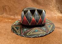 """[IMP-HAT-BLK-02] IMPORT MEXICAN HAT  """"BLACK-02"""""""