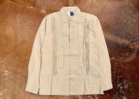 "[IMP-L-TAN01-34] DEADSTOCK IMPORT GUAYABERA  L/S  ""TAN-1""サイズ34"