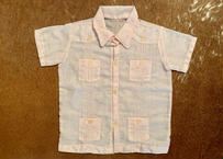 "[IMP-KID-S-PINK01] DEADSTOCK KID'S IMPORT CUBA SHIRTS  S/S  ""PINK-01"""