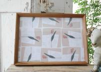 A4サイズ布ポスター『チューリップの栞』