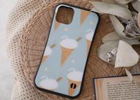 【オーダーした翌月中旬にお届け】iPhoneケース各種「ソフトクリームのスワン」