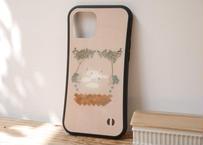 【オーダーした翌月中旬にお届け】iPhoneケース各種「ブルーベリーとスワン」