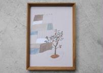 A4サイズ布ポスター『レモンのパッチワーク』