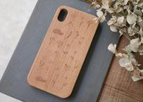 【iPhoneXR】ウッドiPhoneケース『花』