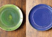 【ハルカゼ舎】釉皿(緑/コバルト)(商品コード:TG270239)