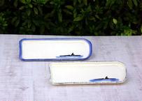 【ハルカゼ舎】長角皿(秋刀魚皿) 烏帽子岩・色有り (青/灰青)(商品コード:TG270275)