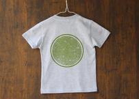 田村屋「茅ヶ崎Tシャツ」《丸に青海波》グレー×緑(送料込み)(商品コード:TTA110208)
