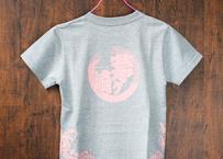 「茅ヶ崎Tシャツ」田村屋オリジナルデザイン グレー×ピンク(送料込み)(商品コード:TA110049)