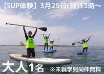 【Hosoii Surf & Sports】未経験者・初心者大歓迎♪ 茅ヶ崎の海をSUPでのんびり水上散歩 3月29日(日) 13時~ 大人1名 (商品コード:TE100166)