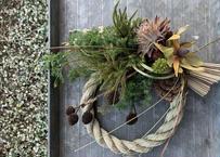 【お歳暮】<送料無料> 【Flower & Wreath design etela エテラ】季節替わりのリースシリーズ《11月はお正月 しめ縄飾り》(商品コード:TG140083)