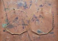 【Ery】brass thin Big  earrings<真鍮ピアス>