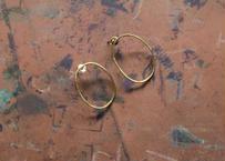 【Ery】brass thin earrings<真鍮ピアス>