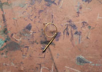 """【Ery】brass Number5  thin earrings<数字""""9""""ピアス>"""