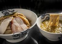 龍介つけそば(濃厚鶏白湯醤油)×2食&純鶏そば(濃厚鶏白湯塩味)×2食セット