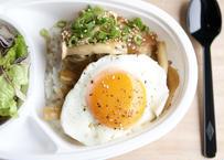 【cafe-nee】きのこバター醤油のロコモコ丼