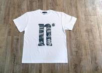 【No border squad × 釣日和 】コラボ  オリジナルカモフラTシャツ ー WHITE