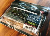 ノリーズ(NORIES) ワーム エスケープツイン 4-1/2インチ 105mm グリーンパンプキン ブラックFlk./ウォーターメロン レッド+グリーンFlk.バック #133 4143